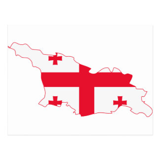 Georgia Flag Map GE Postcard