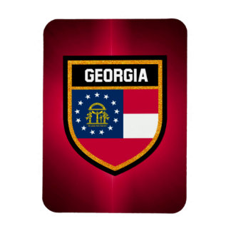 Georgia Flag Rectangular Photo Magnet