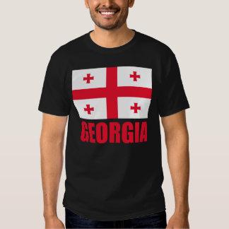 Georgia Flag Red Text Tshirt