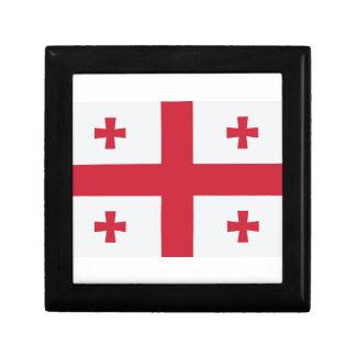 Georgia Flag Small Square Gift Box