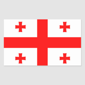 Georgia flag rectangular sticker
