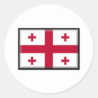 Georgia Flag Round Stickers
