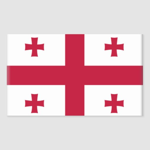 Georgia Flag Rectangular Stickers