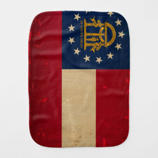 Georgia Flag VINTAGE.png Burp Cloths