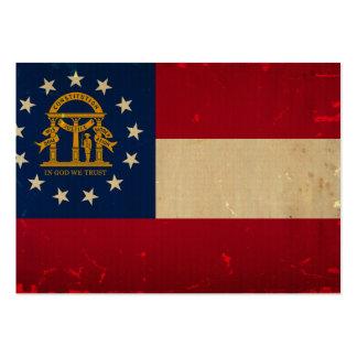 Georgia Flag VINTAGE.png Business Card