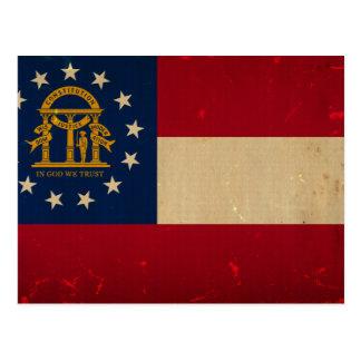 Georgia Flag VINTAGE.png Postcard