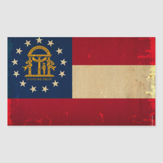Georgia Flag VINTAGE.png Sticker