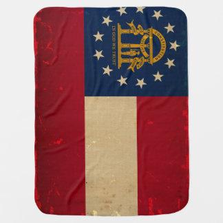 Georgia Flag VINTAGE png Receiving Blanket
