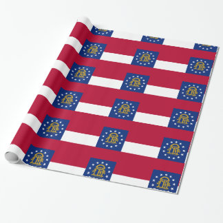 Georgia flag wrapping paper