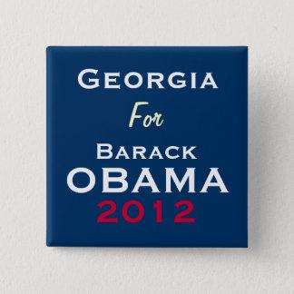GEORGIA For OBAMA 2012 Campaign Button
