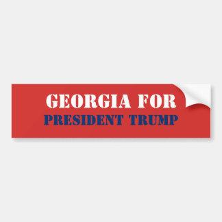 GEORGIA FOR PRESIDENT TRUMP BUMPER STICKER