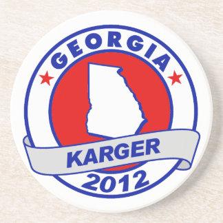 Georgia Fred Karger Beverage Coasters