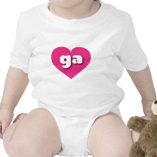 Georgia ga hot pink heart baby bodysuits