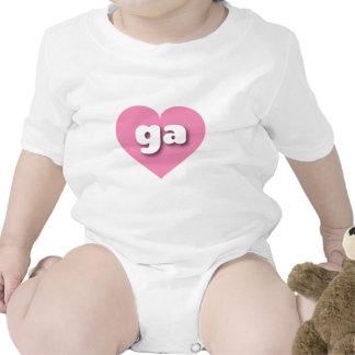 Georgia ga pink heart bodysuits