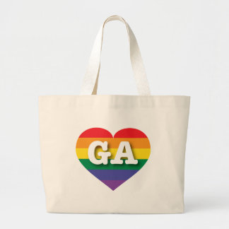 Georgia GA rainbow pride heart Canvas Bag