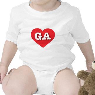 Georgia GA red heart Baby Creeper