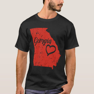 Georgia GA State Love Distressed Vintage t-shirt