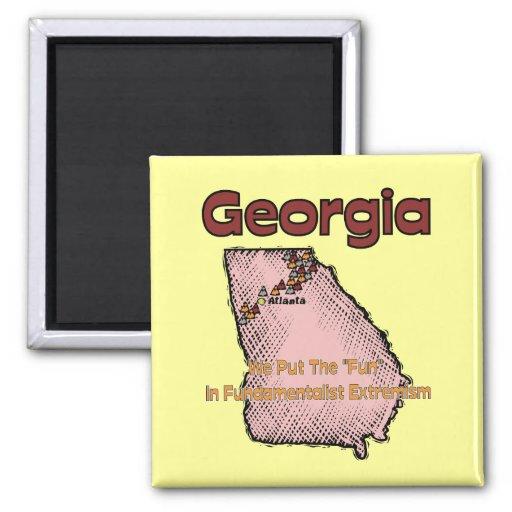 """Georgia GA US Motto ~ We Put The """"Fun"""" In Fridge Magnets"""
