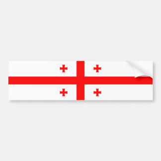 Georgia/Georgian Flag Bumper Sticker