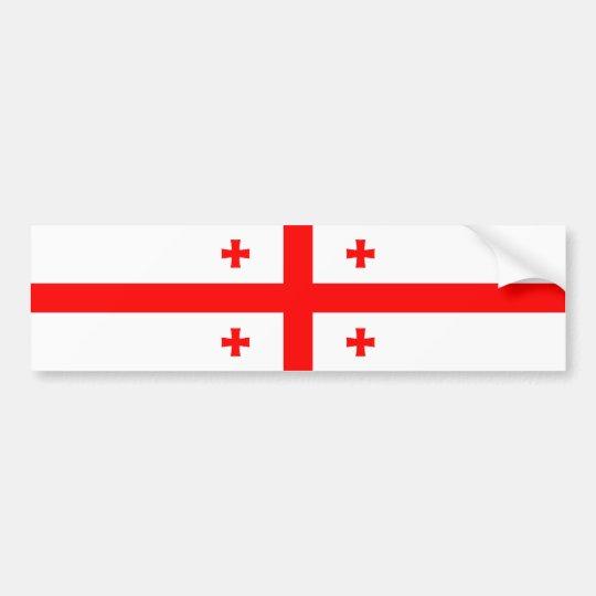 Georgia/Georgian Flag Bumper Sticker