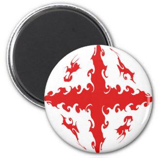 Georgia Gnarly Flag 6 Cm Round Magnet
