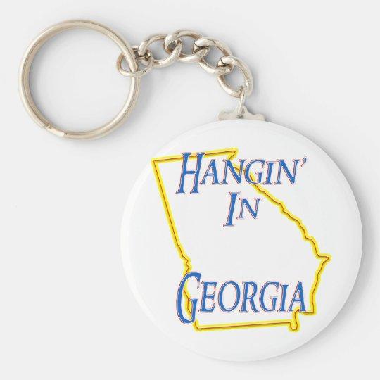 Georgia - Hangin' Basic Round Button Key Ring