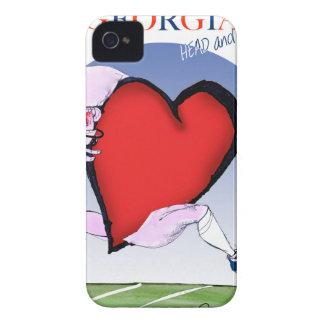 georgia head heart, tony fernandes iPhone 4 case