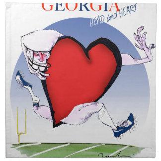 georgia head heart, tony fernandes napkin