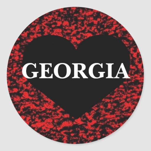Georgia Heart Red Sticker