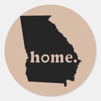 Georgia Home Classic Round Sticker