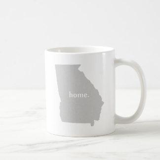 Georgia home silhouette state map mug