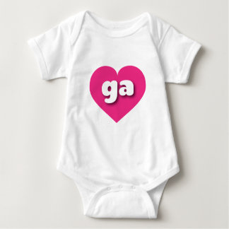 georgia hot pink heart - mini love tee shirts