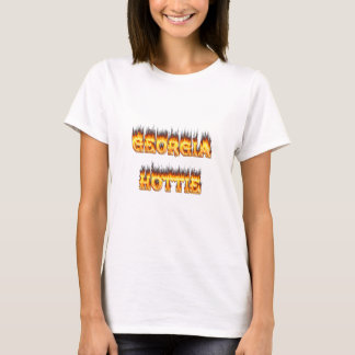Georgia Hottie Fire and Flames T-Shirt