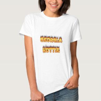 Georgia Hottie Fire and Flames Tee Shirt