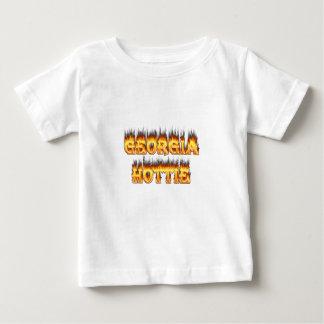 Georgia Hottie Fire and Flames Tshirt