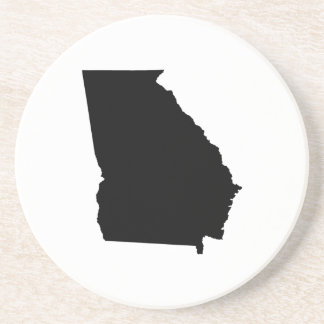 Georgia in Black and White Beverage Coasters