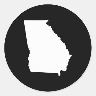 Georgia in White and Black Round Sticker