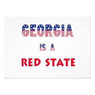 Georgia is a Red State Custom Invitation