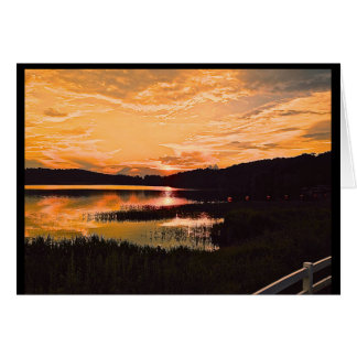 Georgia Lake Sunset Card