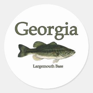 Georgia Largemouth Bass Classic Round Sticker