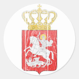 Georgia Lesser Coat Of Arms Round Sticker