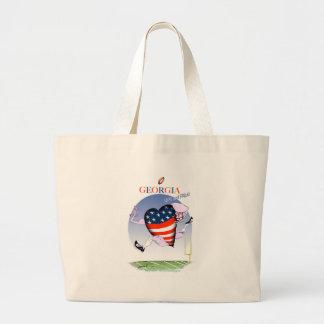 georgia loud and proud, tony fernandes large tote bag