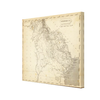 Georgia Map by Arrowsmith Canvas Print