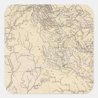 Georgia Map by Arrowsmith Square Sticker