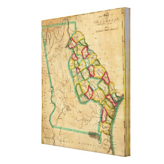 Georgia Map Canvas Print