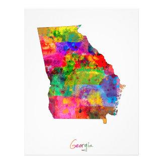 Georgia Map 21.5 Cm X 28 Cm Flyer
