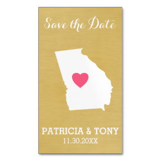 Georgia Map Home State Love with Custom Heart Magnetic Business Cards