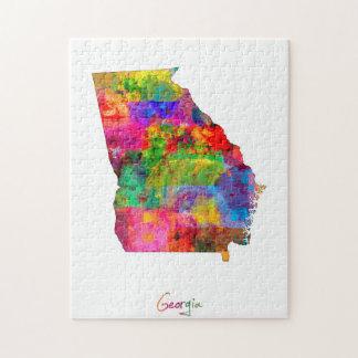 Georgia Map Jigsaw Puzzle