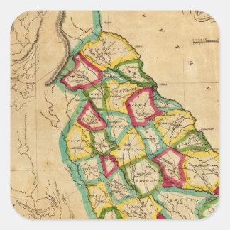 Georgia Map Square Sticker
