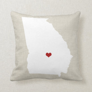 "Georgia New Home State Throw Pillow 16"" x 16"" Throw Cushion"